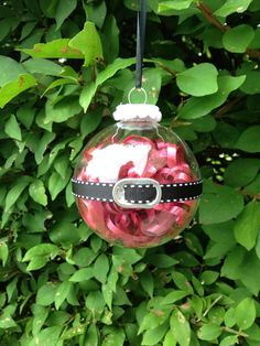 Handmade Santa Claus Christmas Ornament by kuteKrazyKreations, $9.00. That's a pop tab for the belt!! Easy DIY would be great for office gift parties or ornament exchanges. Cheap cheap cheap!!