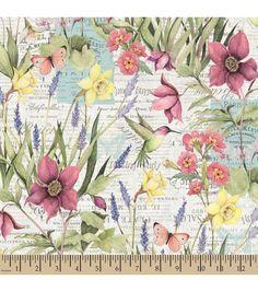 Premium Cotton Fabric-Susan Winget Botanical Buzz Scenic | Jo-Ann