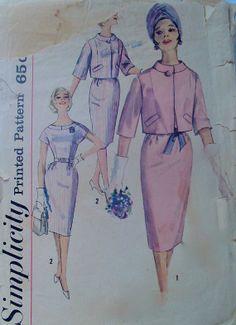 60s Vintage Simplicity 5067 V Necked Jumper Dress by stumbleupon, $7.95