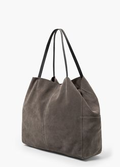 Shopper-Bag aus Rauleder