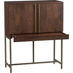 Bourne Bar Cabinet in Bar Cabinets | Crate and Barrel