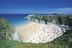 Lusty Glaze Beach, Newquay, Cornwall. Beautiful white sand beach, perfect for a beach wedding.