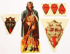 Glanzbild Craps 6 x Krampus Teufel - sehr alt - Österreich-Ungarn | eBay