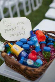 Bubbles at reception