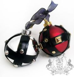 Make your Christmas tree extra Kinky this year with our Latex Bondage Ornament. Glass ball ornament with latex straps and spikes. Handmade in our Chicag...