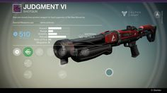 Executor-issued close quarters weapon for loyal supporters of the New Monarchy. Judgment VI is a legendary shotgun manufactured by the New Monarchy. Upgr... #destiny