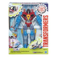 "Hasbro Transformers Robots In Disguise 9"" Power Surge STARSCREAM Action Figure #Hasbro"