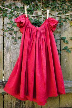 Very Homemade: Valentine's Frock, Gathered Neckline Dress Tutorial