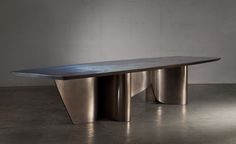 Furniture | Based Upon - Ribbon Dining Table (2014) 4500mm x 1250mm x 750mm Polyurethane foam, glass fibre, timber & liquid metal