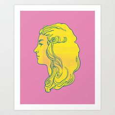 Pink and Yellow Edwardian Art Print by Kyle T Webster - $19.00