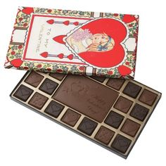 Vintage Retro Girl Valentine box chocolate - click to get yours right now!