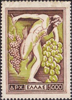 1953 Έκδοση Εθνικά προϊόντα - Σταφύλια Τεμάχια : 4.000.000