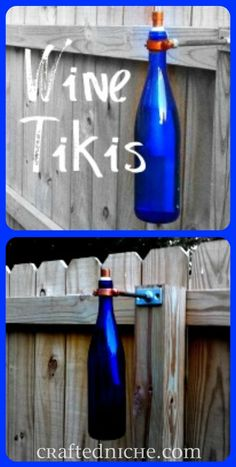 A use for all my empty wine bottles!