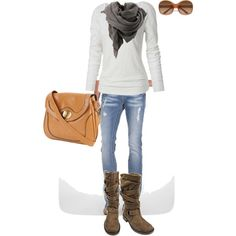 A fashion look from June 2012 featuring Fat Face t-shirts, Miss Me jeans and Roxy boots. Browse and shop related looks.