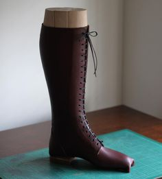This is still a prototype.  #countryboots #bespoke #fieldboots #bootmaker #mocup #vegetabletannedleather