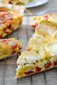 Obst und Gemüse Quiche Sommer Pfeffer Zucchini Source by lessascelmar Pizza Recipes, Vegetarian Recipes, Healthy Recipes, Tart Recipes, Zucchini Tarte, Vegetable Quiche, Quiches, Omelettes, Clean Eating Snacks