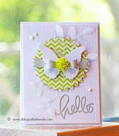 Inspired by two of my favorite card makers - a Butterfly hello! - A Blog Called Wanda