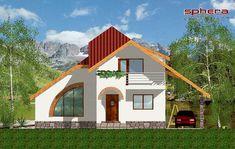 Proiect Casa Stela - PROIECTE DE CASE. Arhitectura. Rezistenta. Instalatii Little House Plans, Luxury House Plans, Home Fashion, Sweet Home, Cabin, How To Plan, House Styles, Outdoor Decor, Projects
