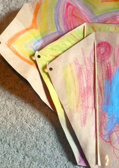 Day 49- Make a paper bag kite and go fly it!
