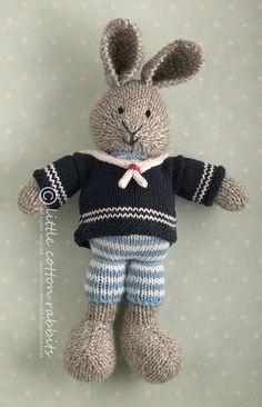 my fav little bunny Abner made by littlecottonrabbits, via Flickr