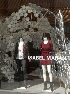 Isabel Marant aluminum plates windows by Arnold Goron visual merchandising