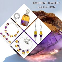 Ametrine handmade  Jewelry Collection in Sterling Silver from Jaipur, India. From our home to yours' with love. #india #handmade #sterling #silver #ring #earrings #pendant #necklace #bracelet #natural #jaipur #india #wholesale #rajasthan  #artisan #healing #crystals #gemstone #Ametrine