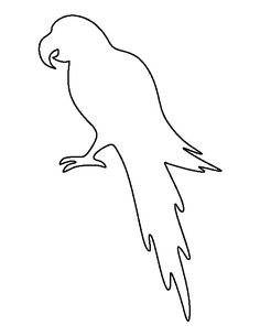 Parrot pattern. Use the printable outline for crafts, creating stencils, scrapbooking, and more. Free PDF template to download and print at http://patternuniverse.com/download/parrot-pattern/