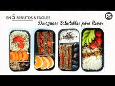 4 DESAYUNOS PARA LLEVAR EN 5 MINUTOS | FACILES & SALUDABLES - YouTube