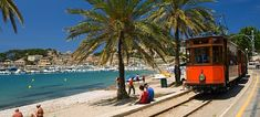 Soller by Train Balearic Islands, Mallorca Ibiza Travel, Spain Travel, Travel Europe, Places Around The World, Travel Around The World, Around The Worlds, Great Places, Beautiful Places, Places To Visit