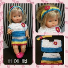 Abito per la bambola, coloratissimo, come piace alle bimbe!