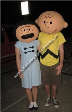 Peanuts Couple Costume: My boyfriend and I went to a Halloween party hosted by a freshman organization at our school Baylor University. At first we were going to be lame and just