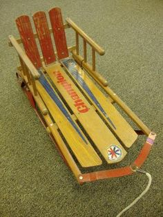 RARE Vintage Champion Child's Pull Snow Sled Wood Iron Circa 1960'S Vintage Sled, Vintage Toys, Retro Vintage, Snow Sled, Vintage Champion, Skates, Winter Wonderland, Wood Signs, Childhood