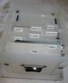 Embossing Folder Storage And I just emptied a container just like the one in the photo!