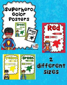 This pack of Color Posters is clean and vibrant and simple. There are two different sizes to choose from. 8.5 x 11 full size and 8.5 x 5 for those who need to conserve wall space! These would be perfect for Primary grades, Homeschoolers, Preschoolers and Resource Teachers.