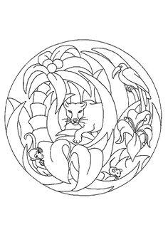 Coloriage mandala panthere sur Hugolescargot.com - Hugolescargot.com