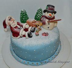mavi demlik mutfağı- izmir butik pasta kurabiye cupcake tasarım- şeker hamurlu-kur: Yılbaşı Pastası