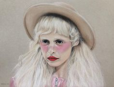 """Petite Meller. 9"""" x 12"""" Strathmore Toned Grey paper. Chalk pastels and Prismacolor colored pencils. 2016. By: Marissa Asal (The_Lovely_Drawing on Instagram)"""