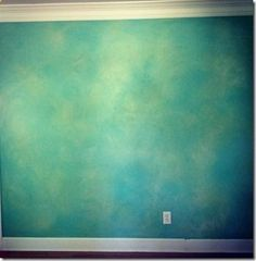 Faux suede western turquoise wall