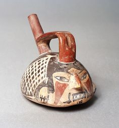 Miniature Single Spouted Vessel Peru, Early Nasca, 100 B.C. - A.D. 200