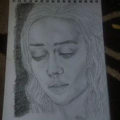 """26 Likes, 3 Comments - Matt Flanders (@mattflndrs) on Instagram: """"Decided to step out the comfort zone and #draw #daenerystargaryen #khaleesi from #gameofthrones…"""""""