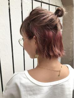 Hair Streaks, Hair Color Balayage, Ombre Hair, Pink Hair, Undercolor Hair, Medium Hair Styles, Curly Hair Styles, Short Grunge Hair, Colored Hair Tips