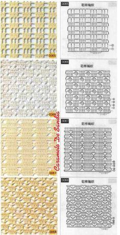 Gilet Crochet, Crochet Lace Edging, Crochet Motifs, Free Crochet, Crochet Stitches Chart, Crochet Diagram, Stitch Patterns, Knitting Patterns, Crochet Patterns