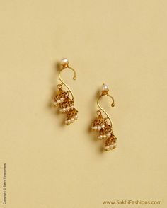 Yellow &  Pure Gold Ear Cuff