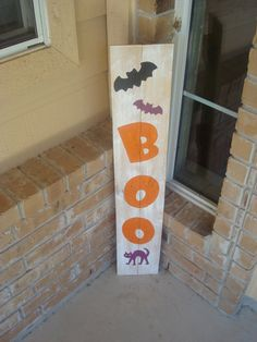 Halloween Yard Decor Sign From Reclaimed Wood - 38x7