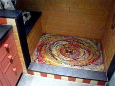 BATHROOM MOSAICS, SHOWER STALL MOSAICS, MOSAIC BACKSPLASHES IN THE BATHROOM,
