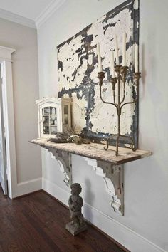Cool Shabby Chic Decor examples, styling idea number 9939441566 - Attractive ideas a shabby but really charming shabby chic decor ideas . This shabby suggestion imagined on this not so shabby day 20181217 Decoration Shabby, Shabby Chic Decor, Rustic Decor, Antique Decor, Salvaged Decor, Rustic Entry, Decorations, Salvaged Wood, Shabby Chic Hallway