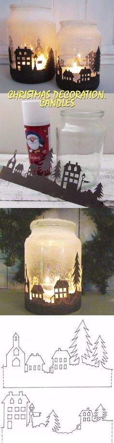 Christmas decoration. Candles | GOOD HOUSE WIFE