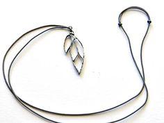 Leaf pendant Brass bronze pendant Silver pendant Charm