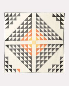 Curl up with Pendleton quilts that will make your bedroom beautiful. Shop Southwestern quilts, patchwork quilts and more. Half Square Triangle Quilts, Square Quilt, Quilt Sets, Quilt Blocks, Quilting Projects, Quilting Designs, Quilting Ideas, Scandinavian Quilts, Scandinavian Pattern