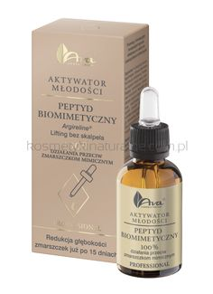AVA Youth Activator with biomimetic peptide - Argireline -against mimic wrinkles Acne Control, Organic Argan Oil, Skin Elasticity, Skin Brightening, Natural Skin, Perfume Bottles, Pure Products, Natural Products, Beauty Products